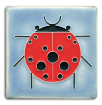 Lady Bug Tile Blue